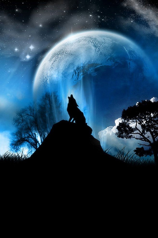 Night Of The Wolf Blue
